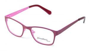 Detské kovové ružové dioptrické okuliare 0337