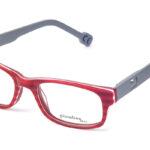 Detské plastové červeno – sivé dioptrické okuliare 0386  1