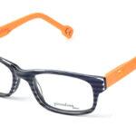 Detské plastové čierno – oranžové dioptrické okuliare 0385  1