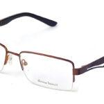 Pánske kovové hnedo-čierne dioptrické okuliare 0225