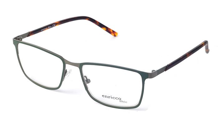 Pánske kovové zelené dioptrické okuliare 0415