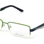 Pánske kovové zeleno-čierne dioptrické okuliare 0224