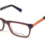 Pánske plastové hnedo – oranžové dioptrické okuliare 0302  1