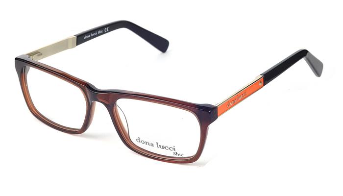Pánske plastové hnedo - oranžové dioptrické okuliare 0302