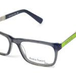 Pánske plastové sivo – zelené dioptrické okuliare 0301  1