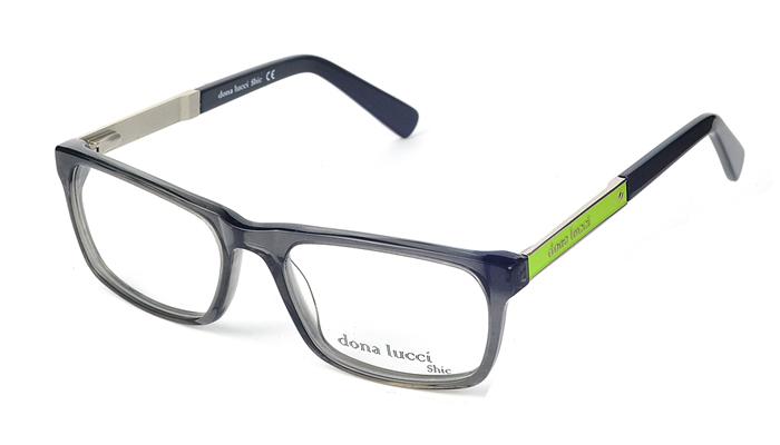 Pánske plastové sivo - zelené dioptrické okuliare 0301