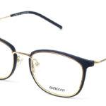 Unisex kovové čierno – zlaté dioptrické okuliare 0572 1