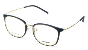 Unisex kovové čierno - zlaté dioptrické okuliare 0572
