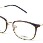 Unisex kovové hnedé – zlaté dioptrické okuliare 0574  1