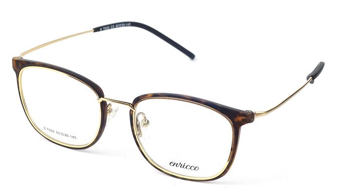 Unisex kovové hnedé - zlaté dioptrické okuliare 0574