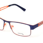 Unisex kovové modro – oranžové dioptrické okuliare 0399  1