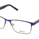 Unisex kovové modro – oranžové dioptrické okuliare 0517 1