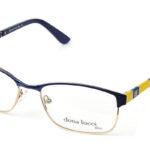 Unisex kovové modro – žlté dioptrické okuliare 0418 1