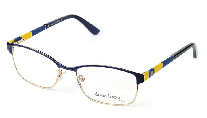 Unisex kovové modro - žlté dioptrické okuliare 0418