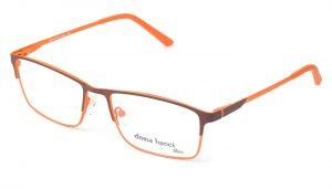 Unisex kovové oranžovo - hnedé dioptrické okuliare 0313