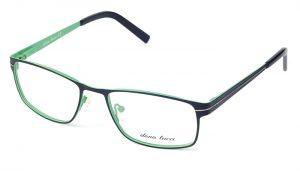 Unisex kovové zeleno - čierne dioptrické okuliare 0538