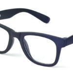 Unisex plastové čierne dioptrické okuliare 0591 1