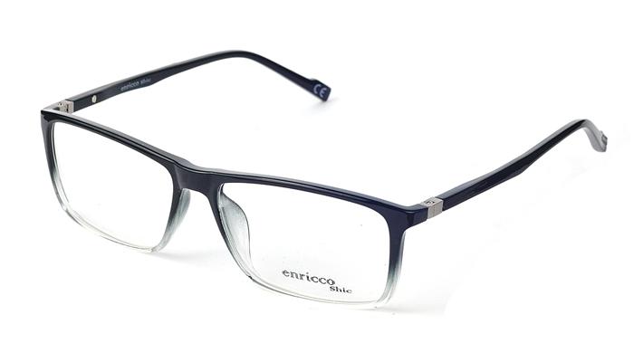 Unisex plastové čierno - sivé dioptrické okuliare 0409