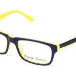 Unisex plastové čierno – žlté dioptrické okuliare 0007 1