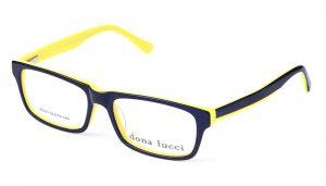 Unisex plastové čierno - žlté dioptrické okuliare 0007