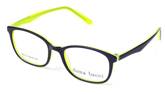 Unisex plastové čierno - žlté  dioptrické okuliare 0214