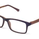 Unisex plastové hnedé dioptrické okuliare 0590  1