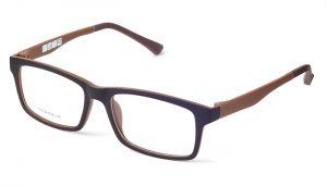 Unisex plastové hnedé dioptrické okuliare 0590