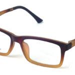 Unisex plastové hnedé dioptrické okuliare 0596  1