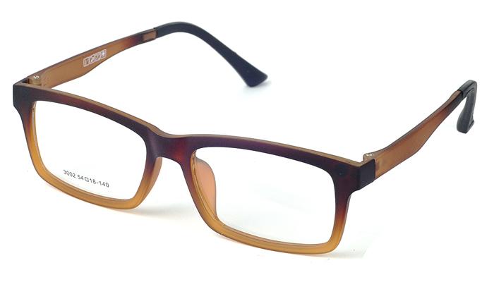 Unisex plastové hnedé dioptrické okuliare 0596