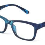 Unisex plastové modré dioptrické okuliare 0592 1