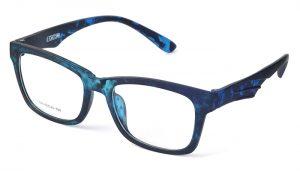 Unisex plastové modré dioptrické okuliare 0592