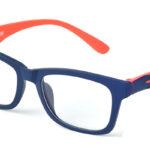 Unisex plastové modro – oranžové dioptrické okuliare 0593  1