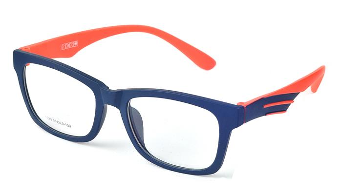 Unisex plastové modro - oranžové dioptrické okuliare 0593