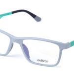 Unisex plastové sivo – zelené dioptrické okuliare 0625  1