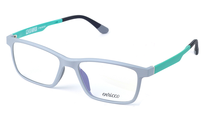 Unisex plastové sivo - zelené dioptrické okuliare 0625