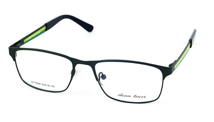 Dámske kovové zelené dioptrické okuliare 687
