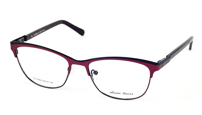 Dámske kovové bordové dioptrické okuliare 689