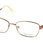 Dámske kovové zlaté dioptrické okuliare 691