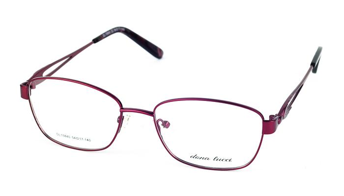 Dámske kovové bordové dioptrické okuliare 692