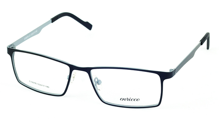 Pánske kovové čierne dioptrické okuliare 693
