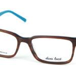 Pánske plastové hnedé dioptrické okuliare 698