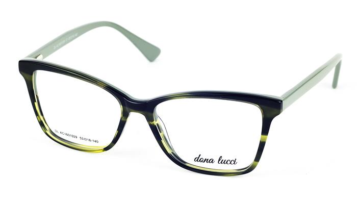 Dámske plastové zelené dioptrické okuliare 701