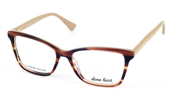 Dámske plastové hnedé dioptrické okuliare 702
