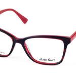 Dámske plastové červené dioptrické okuliare 703