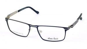 Unisex kovové čierne dioptrické okuliare 708