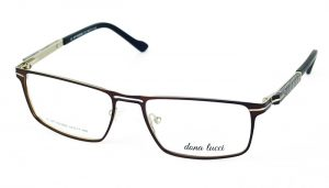 Unisex kovové hnedé dioptrické okuliare 709