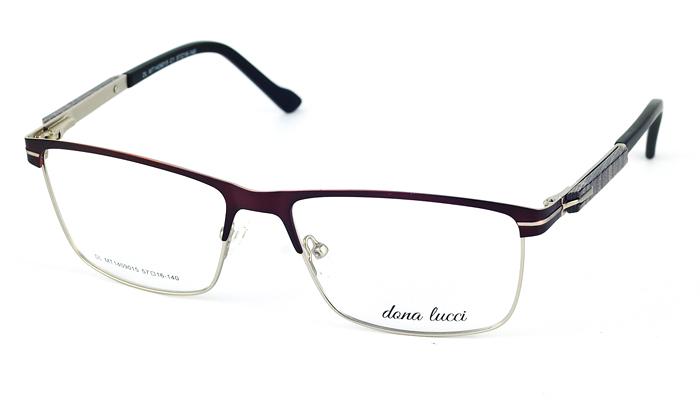 Pánske kovové bordové dioptrické okuliare 710
