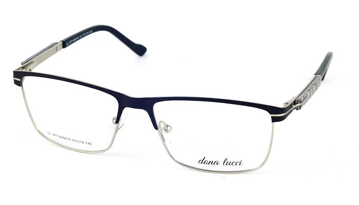 Pánske kovové čierne dioptrické okuliare 711