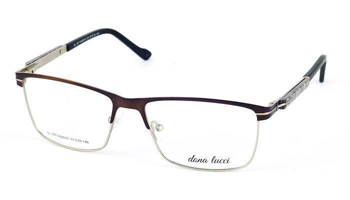 Pánske kovové hnedé dioptrické okuliare 712