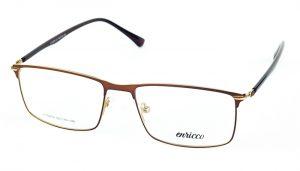 Pánske kovové hnedé dioptrické okuliare 724